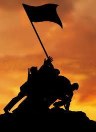 Flag Iwo Jima How To Draw Troops Raising The Flag On Iwo Jima Step By Step