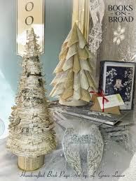 book page christmas trees just in time to decorate for the