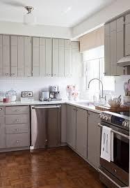 kitchens gray kitchen cabinets white subway tiles backsplash