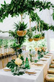 tropical themed wedding real wedding a tropical themed wedding with palm leaf decor in