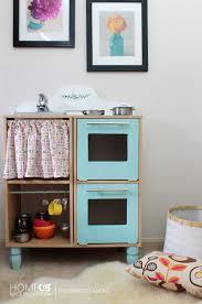 Kids Kitchen Furniture Remodelaholic Cute U0026 Easy Kids Play Kitchen From A Cube Shelf