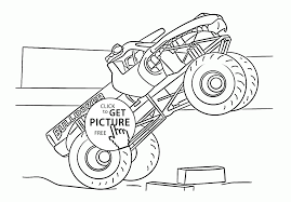 bulldozer cool monster truck coloring page for kids