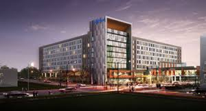 greater des moines partnership downtown hotel breaks ground