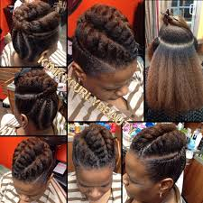 updo transitional natural hairstyles for the african american woman 2015 pretty flat twist updo http community blackhairinformation com
