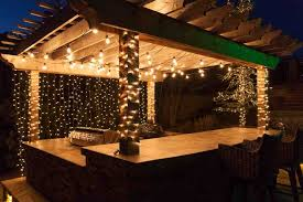 Outdoor Garden Lights String Outdoor Patio Lights String Idea To Create Outdoor