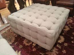 Button Tufted Ottoman Large Linen Button Tufted Ottoman Coffee Cocktail Table