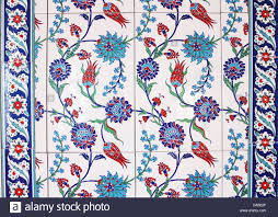 Ottoman Tiles Turkish Ottoman Wall Tiles Stock Photo 57898471 Alamy