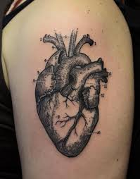 biomechanical heart tattoo sketch real photo pictures images