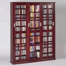Oak Dvd Storage Cabinet Leslie Dame 4 Door Glass Cd Dvd Wall Media Storage Cabinet