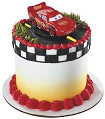 cars cake toppers cars mcqueen cake topper by disney kitchen