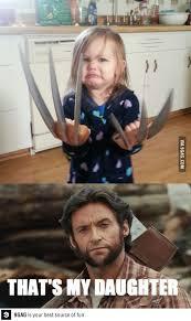Wolverine Picture Meme - wolverine s daughter ecards pinterest freshly baked ecards