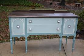 before and after a vintage buffet makeover thrift diving blog