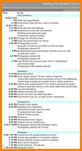 12 wedding day schedule template nurse homed