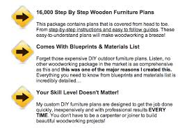 Outdoor Furniture Plans Free Download by Pdfplansforwood
