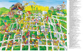 Hollywood Usa Map by Hollywood Tourist Map