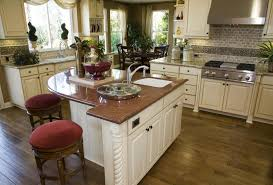 kitchen island area 39 fabulous eat in custom kitchen designs