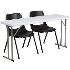 training chairs with tables flash furniture 18 x 60 plastic folding training table with 2 black