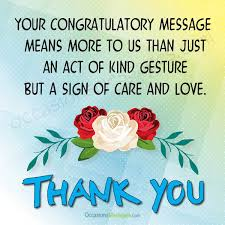 wedding congratulations message thank you for wedding congratulations messages occasions messages