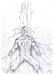 superman unleashed drawing by akthar on deviantart