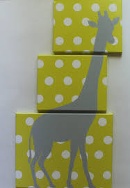 Yellow Gray Nursery Decor Giraffe Nursery Safari Nursery Decor Jungle Nursery Decor Animal