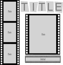 cut and paste sketch film strip layout pazzles craft room