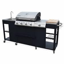 cuisiner avec barbecue a gaz barbecue au gaz d artagnan cuisine extérieure 5 brûleurs évier