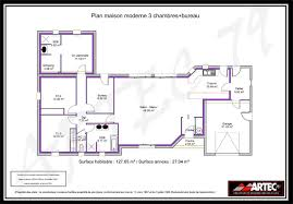plan de maison simple 3 chambres newsindo co