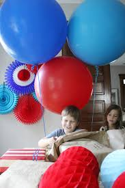 balloons for him 4th of july birthday decor smile and wave