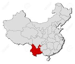 China Political Map by Political Map Of China With The Several Provinces Where Yunnan