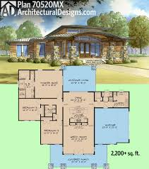 plan 70520mk modern home plan with wrap around porch modern