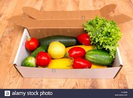 fruit delivered to home box of fresh organic vegetables and fruits delivered to home