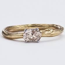 handmade wedding rings twig engagement ring handmade wedding emmaline