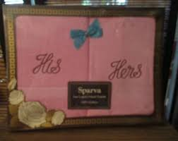 His And Hers Wedding Gifts Hers And Hers Towels Etsy Uk