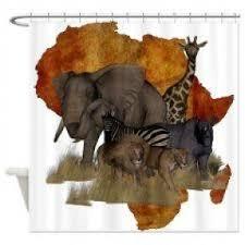 safari shower curtain foter