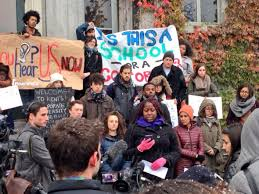 student protests and sit in might last through thanksgiving at