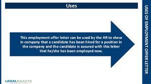 employment offer letter format template legalraasta