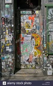 graffiti stickers stock photos graffiti stickers stock images a doorway in greenwich village with graffiti stickers and advertisements in manhattan new york