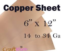 pure copper sheet 12 x 12 x 24 gauge for craft copper sheet 6 x 6 18 20 22 24 26 28 30 gauge metal for etching