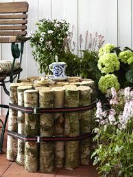 garten dekorieren ideen interessante dekoration für den garten nesttisch selber bauen