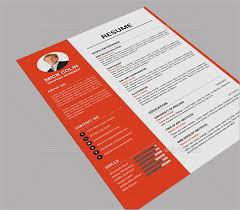Resume Examples Free by 41 One Page Resume Templates Free Samples Examples U0026 Formats