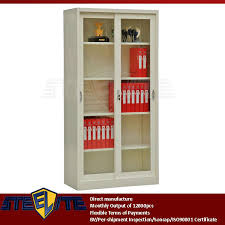 Bookcases With Sliding Glass Doors Metal Double Glass Sliding Door Cupboard Metal Double Glass