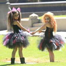scary zombie halloween costumes for girls online shop zombie tutu dress black red halloween costume little
