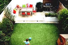 front yard garden in square shape seats coffee exterior small