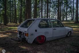 vw rabbit golf mk i sitting on custom beetle frame is a rear