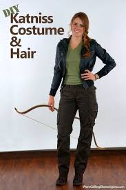 katniss costume diy katniss costume and hair we re calling shenanigans