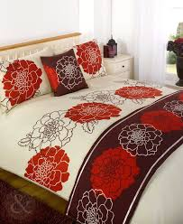 5pc luxury bedding set quality duvet cover quilt bed sets red cream claret burdy wine