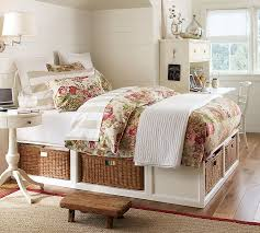 Full Platform Bed With Headboard Stratton Storage Platform Bed With Baskets Pottery Barn