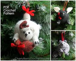 ravelry cats ornaments pattern by cherry berry crochet