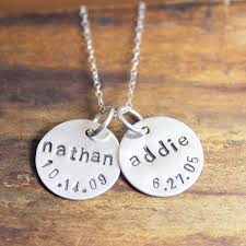 kids name necklace circles of necklace names in lowercase across and birth