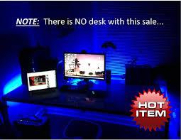 amazon com ch led lighting kit for computer desk 8 feet video games